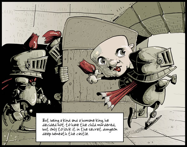 Medieval Romance, Panel 3 © 2010 Maciek Jozefowicz. All rights reserved
