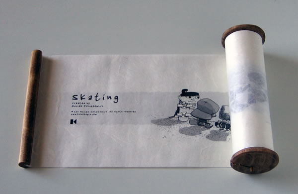 The finished scroll showing the beginning of Skating