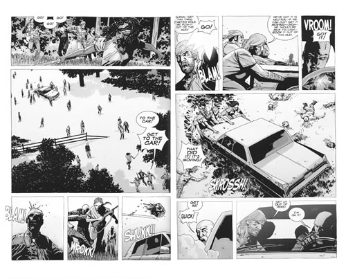 Spread from The Walking Dead