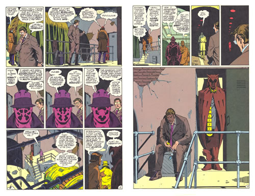 Spread from Watchmen