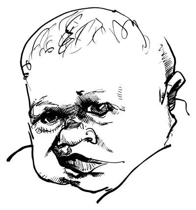 Sketchbook sample 0398 Grumpy