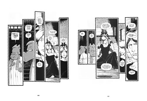 Interior pages from Cerebus Church and State Volume 2