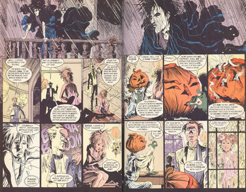 Spread from Sandman Brief Lives