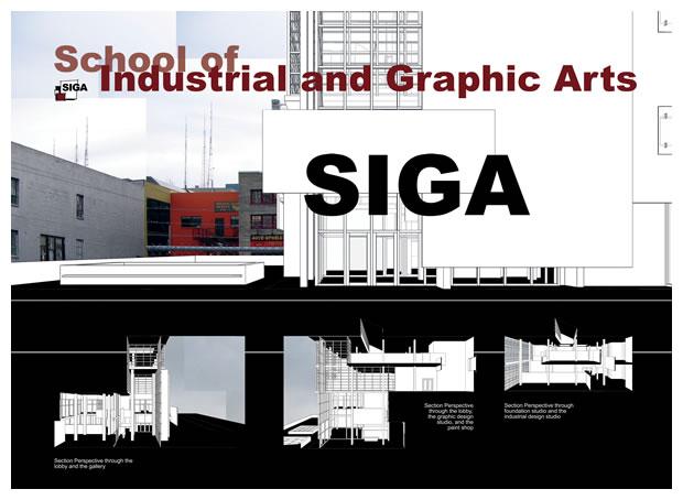 Graduate architecture studio project poster