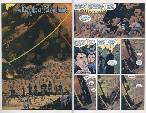 Interior pages from The League of Extraordinary Gentlemen, Volume 2