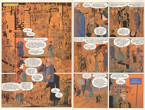 Interior pages from The League of Extraordinary Gentlemen