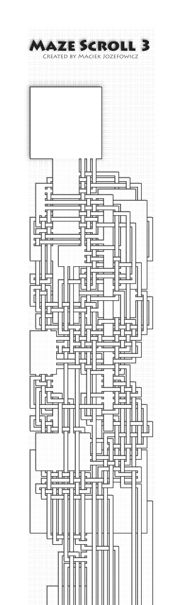 Maze Scroll 3 (maze puzzle in the form of the scroll)