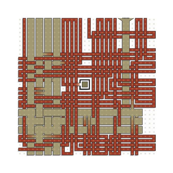 Art print: Maze Square 19