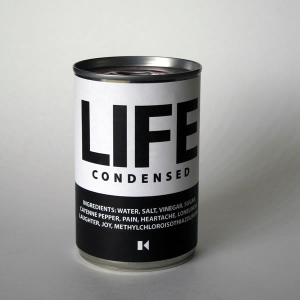 Life Condensed, conceptual sculpture created by Maciek Jozefowicz