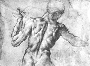 Michelangelo, FIGURE STUDY FOR THE BATTLE OF CASCINA