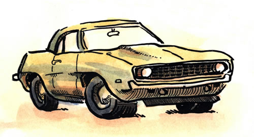 Car sketchbook sample 0441