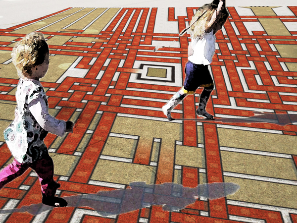 The use of the Maze Square design in a playground
