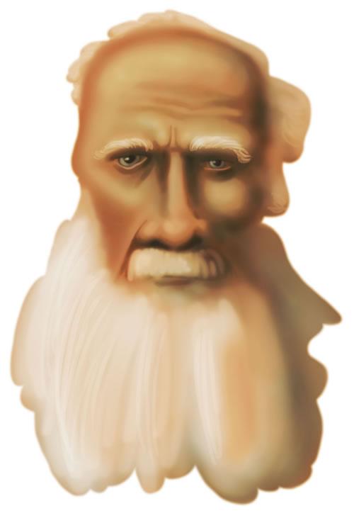 Leo Tolstoy Caricature