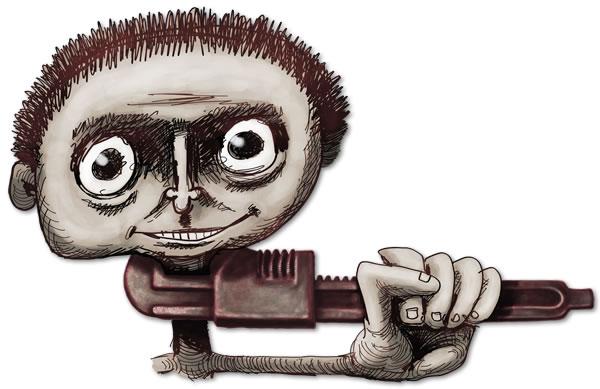 Monkeywrenched, illustration copyright Maciek Jozefowicz