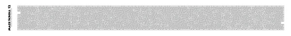 Valentine's Day gift idea, Maze Scroll 12
