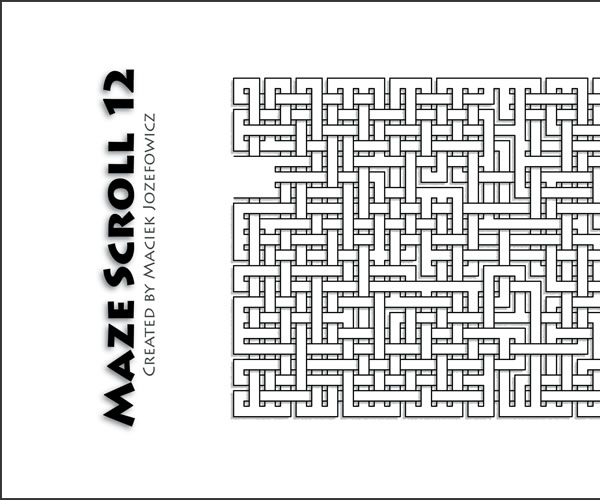 Valentine gift Maze Scroll 12, detail