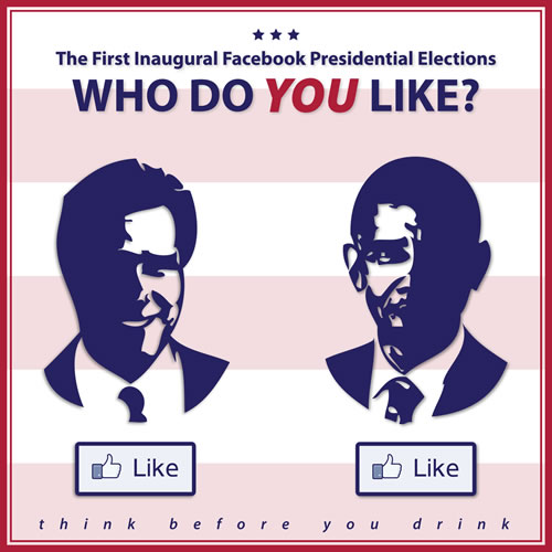 Facebook Presidential Elections, illustration created by Maciek Jozefowicz