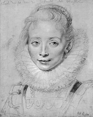 Peter Paul Rubens, PORTRAIT OF A YOUNG LADY OF THE COURT OF THE INFANTA ISABELLA
