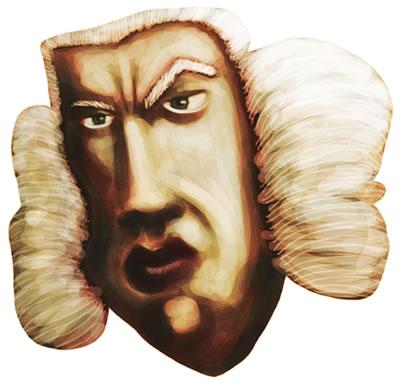Caricature of Samuel Johnson