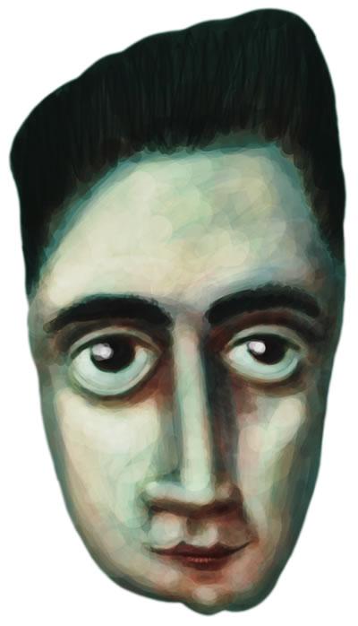 Caricature of Franz Kafka