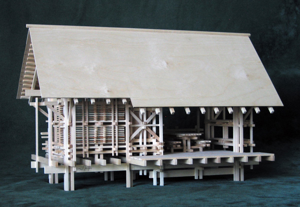 Architectural model Shelter from the Storm, version 2