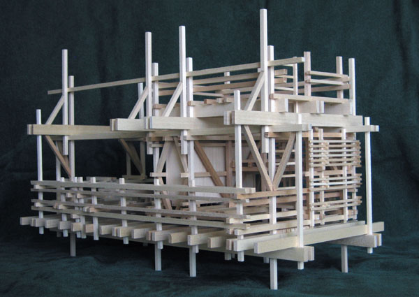 Architectural model, Shelter from the Storm, v.3