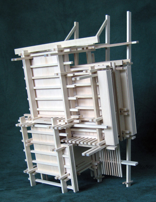 Architectural model as a sculpture of space