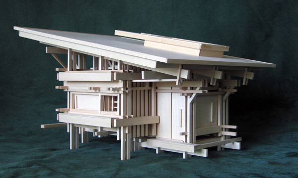 Architectural model as a sculpture of space: Cabin 1 version 1
