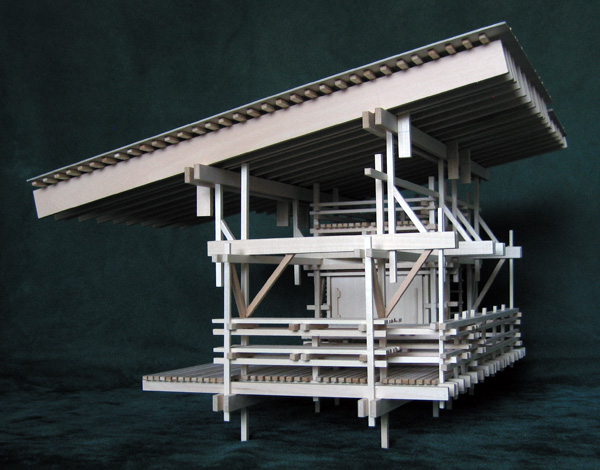 Architectural model Shelter from the Storm, version 3