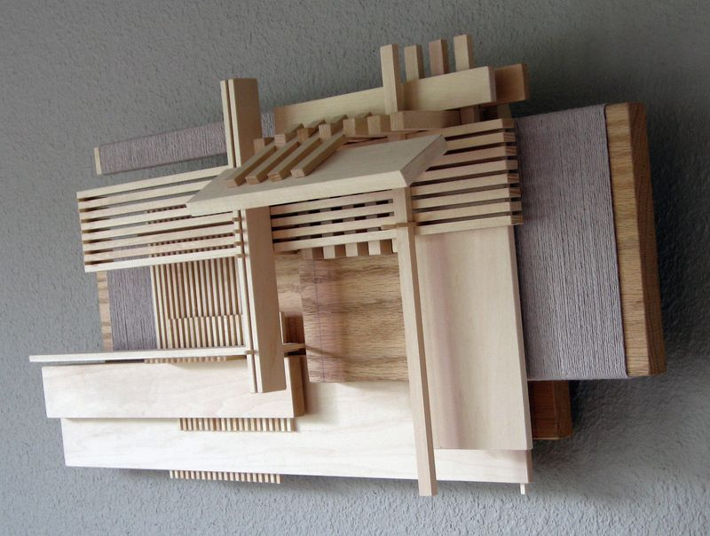 Wall sculpture Construction 20, view from the side