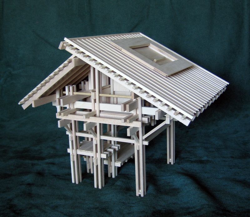 One-of-a-kind Christmas present for the bookcase: architectural model PLAYHOUSE 2