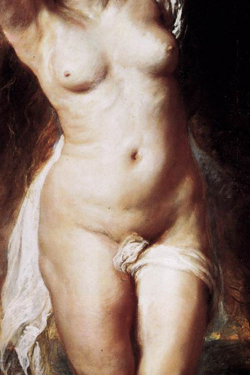 Detail of the painting ANDROMEDA by P.P. Rubens