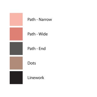 Color palette used in art print SQUARE 22, Version 1