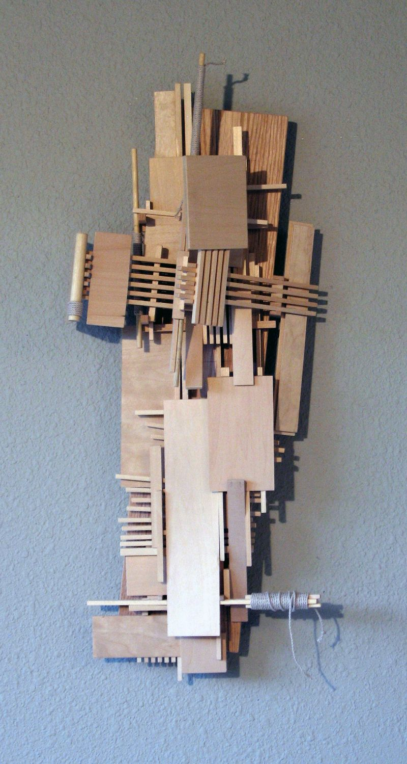 Home decor, office decor, wall sculpture, CONSTRUCTION 25