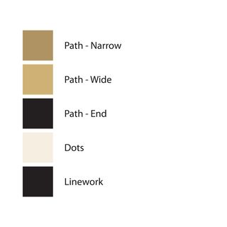 Color palette used in art print SQUARE 22, Version 3