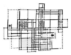 Maze-as-building-plan