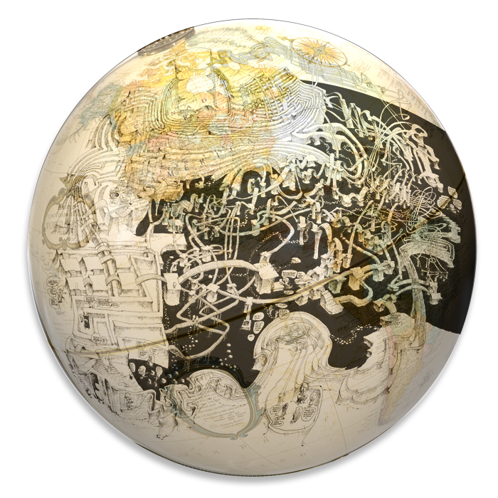MazeGlobe, a maze puzzle treasure globe game