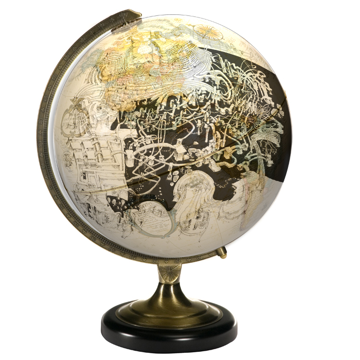 MazeGlobe, a maze puzzle game treasure map in the form of a globe