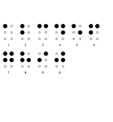 Braille-numbers