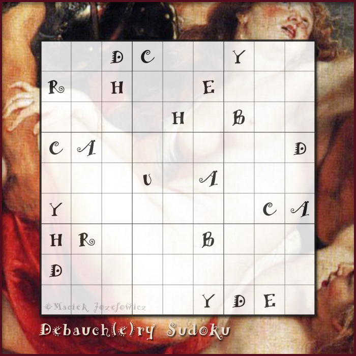 Valentines sudoku puzzle, the Debauchery Sudoku