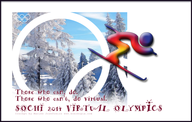 Sochi 2014 Virtual Winter Olympics announcement poster