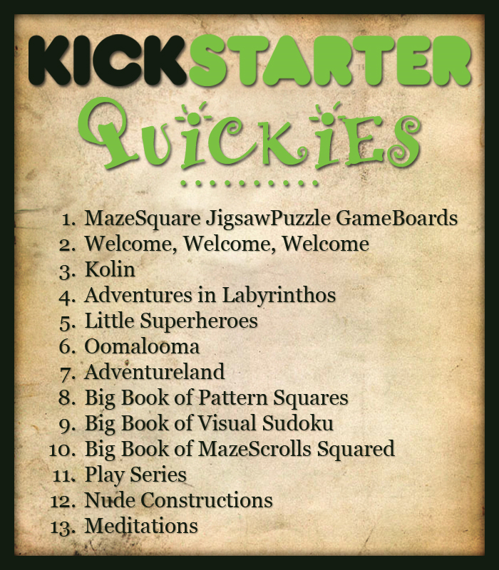 Kickstarter-quickies